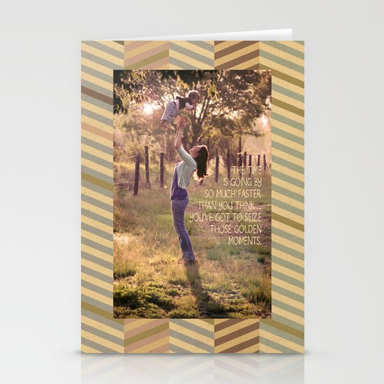 Seize those Golden Moments Stationery Cards