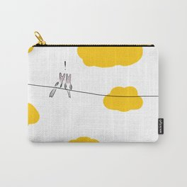 Bunny birds on the wire Carry-All Pouch