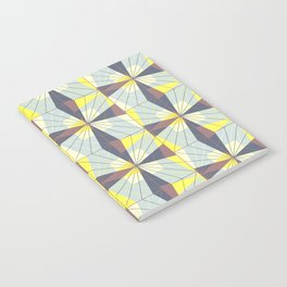 It's complicated. Bold geometric pattern in marsala, yellow and charcoal. Notebook
