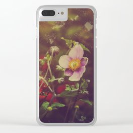 Textured Anemone (Cool Colors) Clear iPhone Case