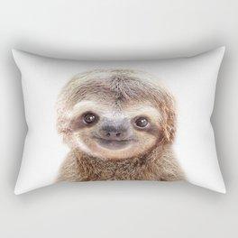 Baby Sloth, Baby Animals Art Print By Synplus Rectangular Pillow