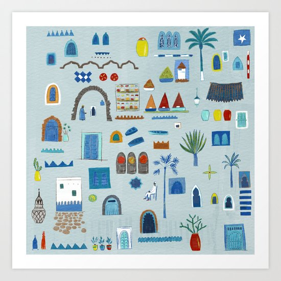 Morocco Sketch Art Print