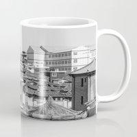seoul Mugs featuring Seoul Rooftops by Jennifer Stinson