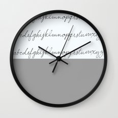 Alphabet-Light Grey Wall Clock