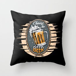 Cheers the Beers Throw Pillow