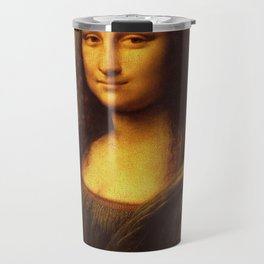 Leonardo Da Vinci Mona Lisa Painting Travel Mug