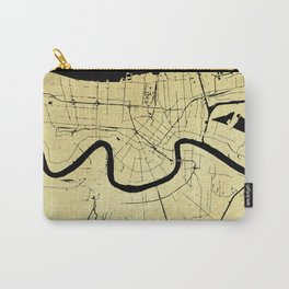 New Orleans Black and Gold Map Carry-All Pouch