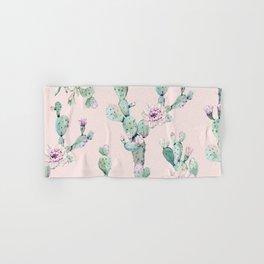 Cactus Rose Pattern on Pink Hand & Bath Towel