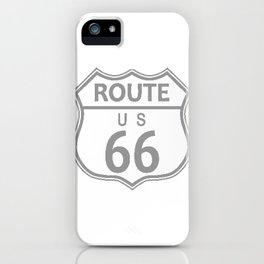 Route 66 Highway Sign Halftone iPhone Case