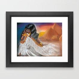 "Egyptian Inspired Mixed Medium Piece ""Mother of Egypt"" Framed Art Print"