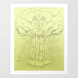 M.A.D. (green) Art Print