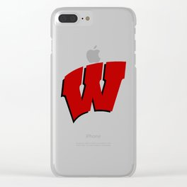 On Wisconsin! Clear iPhone Case