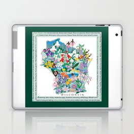 Wisconsin Wildflowers with border Laptop & iPad Skin