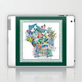 Wisconsin Wildflowers with border Laptop & iPad Skin