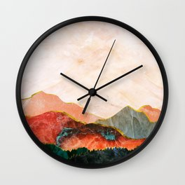 Abstract Mountain Landscape  Digital Art Wall Clock