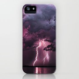 Lightening Strike in Purple Storm iPhone Case