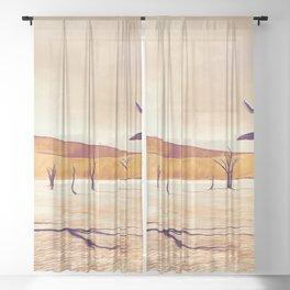 deadvlei desert trees acrls Sheer Curtain