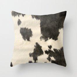 Black & White Cow Hide Throw Pillow