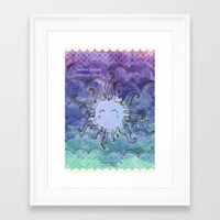 sparkles Framed Art Prints featuring Sparkles by Pixtopia
