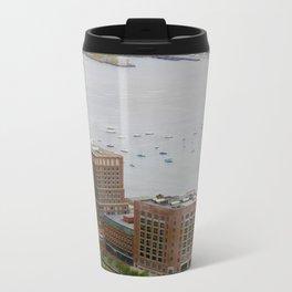 Fan Pier, Boston, MA.  Metal Travel Mug