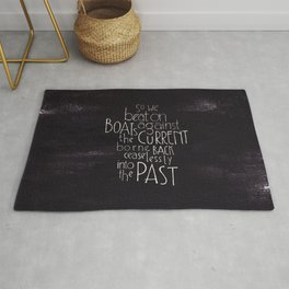 """The Great Gatsby quote """"So we beat on"""" Rug"""
