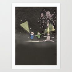Night time Art Print