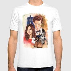 Doctor Who White SMALL Mens Fitted Tee