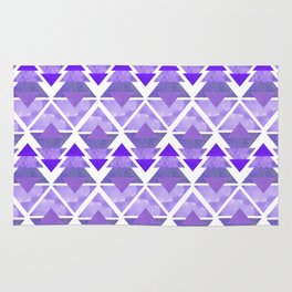Purple Geometric Forest Rug