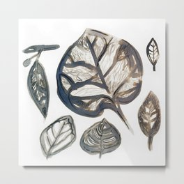Autumn Leaves Won't Leave You Metal Print