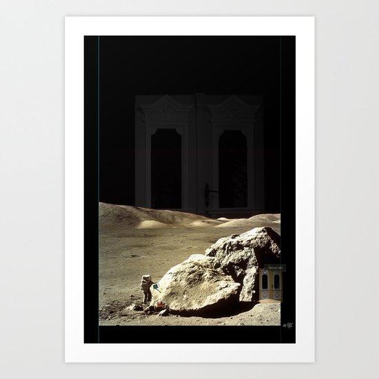 Space is deep Art Print