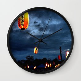 Obon lights Wall Clock