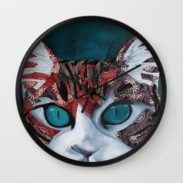 Venetian Cat Wall Clock