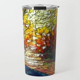 OLena Art, sunset, landscape, artwork, artistic, impressive, illustration, painting, sceni OLena Art Travel Mug