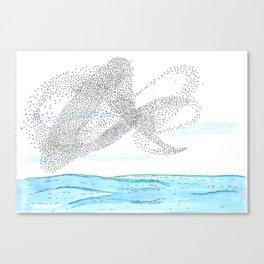 Seaside Murmuration Watercolor Canvas Print