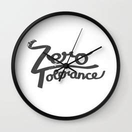 Zero Tolerance Wall Clock