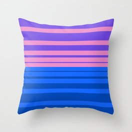 Sunrise - Stripes Only Throw Pillow