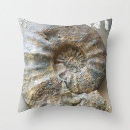 Curiosity #1 Ammonite Throw Pillow