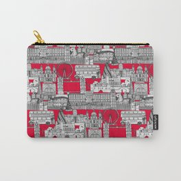 London toile red Carry-All Pouch