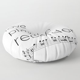 Live, love, play the recorder Floor Pillow