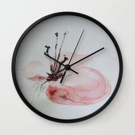 discreetly red Wall Clock