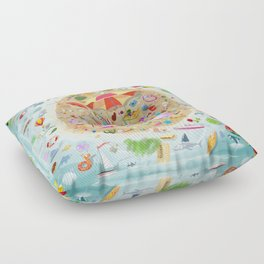 Loony Island Floor Pillow