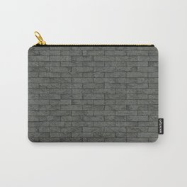 Grey Stone Bricks Wall Texture Carry-All Pouch