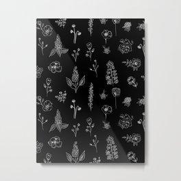 Black Wilflowers III Metal Print