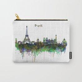 Paris Skyline watercolor Carry-All Pouch