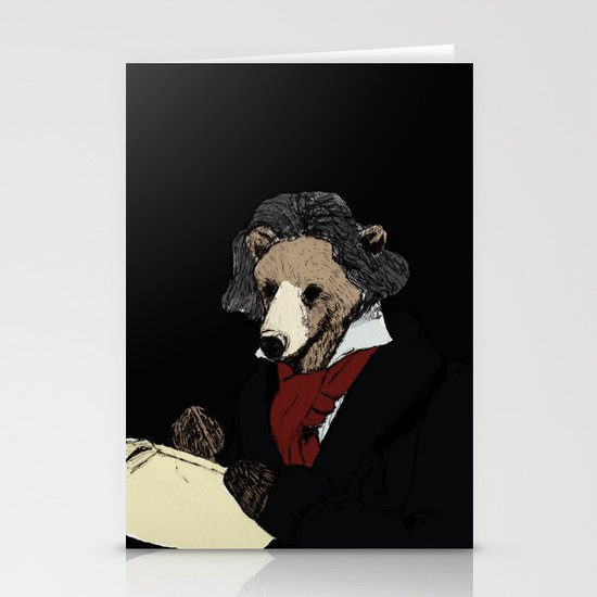 Bearthoven Stationery Cards