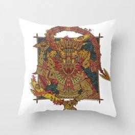 Snake Goddess Throw Pillow