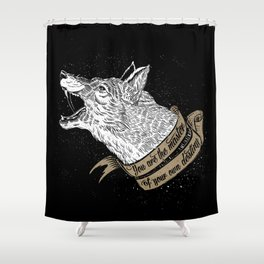 Wolf Protector (Black n Bronze collection) Shower Curtain