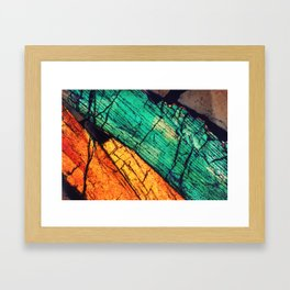 Epidote and Quartz Framed Art Print