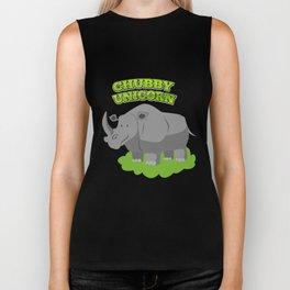 Chubby Unicorn- Funny Rhino Rhinoceros Biker Tank