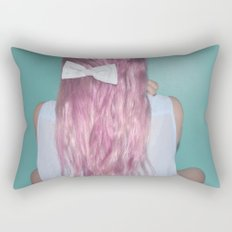 Nebula Girl Rectangular Pillow
